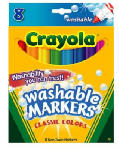 Crayola 58-7808 8-Count Washable Broad Line Markers