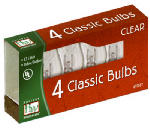 Noma/Inliten-Import 1074C-88 Christmas Lights Replacement Bulb, C7, Clear, 4-Pk.