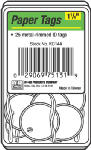Hy-Ko Prod KC144 White Paper I.D. Tag, Split Ring, 1.25-In., 25-Pk.