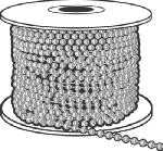 Hy-Ko Prod KBC201 Ball Chain, #10, Nickel-Plated
