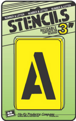 """Assorted 3/"""" Number /& Letter Stencils by Hy Ko ST-3"""