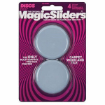 Magic Sliders L P 04060 Surface Protectors, Furniture Sliding Discs, Adhesive, 2-3/8-In. Round, 4-Pk.