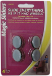 Magic Sliders L P 04301 Surface Protectors, Furniture Sliding Discs, Nail-On, 1-3/16-In. Round, 4-Pk.