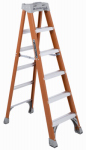 Louisville Ladder FS1506 6-Ft. Step Ladder - Fiberglass Type IA 300-Lb. Duty