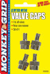 Bell Automotive Products 22-5-08836-M Valve Caps, Slotted, 4-Pk.