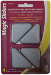Magic Sliders L P 04557 Surface Protectors, Furniture Sliding Discs, Adhesive, 2 x 2 x 2-1/2-In. Triangle, 4-Pk.