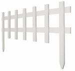 Greenes Fence RC 75W White Deluxe Cape Cod Picket Fence, 18-In. x 3-Ft.