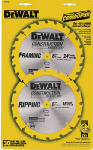 Dewalt Accessories DW9158 Construction Cordless Saw Blade Combo Pack, 6.5-In., 16/24-Teeth