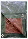 Kaps Tex 619716RD Hunter Green/Brown Polyethylene Tarp, 15 x 30-Ft.