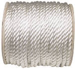 Wellington Cordage 11022 3/4-Inch x 300-Ft. Silvery White Nylon Rope