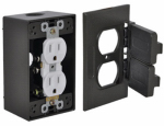 Hubbell Electrical Products FCD35-BR Bronze Duplex Receptacle Outlet Kit