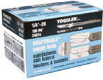 Mechanical Plastics 24014 Snaptoggle Toggle Bolts, Hollow Wall, 1/4 x 20-In., 100-Pk.
