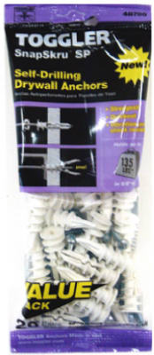 50125 Pack of 20 Mechanical Plastics Corp TOGGLER SnapSkru Self-Drilling Drywall Anchor