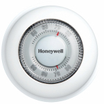 Honeywell Home/Bldg Center CT87K1004/E1 Round Heat Only Thermostat
