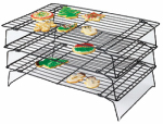 Wilton Industries 2105-6815 3-Pc.Stackable Cookie Rack Set