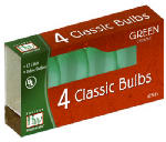 Noma/Inliten-Import 1074G-88 Christmas Lights Replacement Bulb, C7, Green Ceramic, 4-Pk.