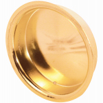 Prime Line Products 161096 Brass Wardrobe Door Cabinet Pull Handle