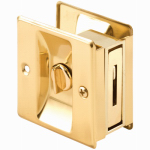 Prime Line Products 161495 Brass Pocket Door Privacy Lock