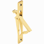 Prime Line Products 161496 Brass Pocket Door Flush Cabinet Pull