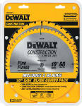 Dewalt Accessories DW3106P5 Series 20 Construction Circular Saw Blade Combo Pack