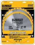 Dewalt Accessories DW3128P5 Series 20 Construction Circular Saw Blade Combo Pack, 12-In.