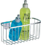 Interdesign 69002 Chrome Shower Caddy Basket with Suction Cups