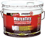 Zinsser 05003 3 Gallon Watertite Mold & Mildew Proof Waterproofing Paint