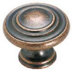 Amerock BP1586WC 1-3/8-In. Copper 3-Ring Cabinet Knob