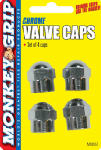 Bell Automotive Products 22-5-08837-M Hex Valved Caps, Chrome, 4-Pk.