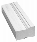 Gossen 635-1000-986 Brickmould, White PVC, 1.25 x 2-In. x 10-Ft.