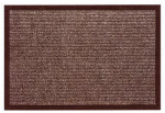 Bacova Guild 27707 Scraper Plus Doormat, Brown, 17-1/2 x 28-In.