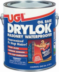 United Gilsonite Lab 20713 Masonry Waterproofing Paint, Oil-Base, White, 1-Gal.