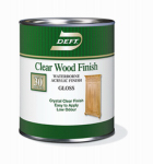 Deft/Ppg Architectural Fin DFT107/04 Deft Qt. Clear Gloss Waterborne Water-Based Wood Finish