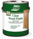 Deft 10801 Deft Gallon Clear Semi-Gloss Water-Based Wood Finish
