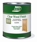 Deft/Ppg Architectural Fin DFT109/04 Deft Qt. Clear Satin Water-Based Wood Finish