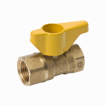 "Homewerks Worldwide VGV2LHB5BB 1"" Brass Gas Ball Valve"