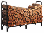 Panacea Products 15204 8-Ft. Deluxe Steel Fireplace Log Rack