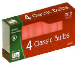 Noma/Inliten-Import 1074R-88 Christmas Lights Replacement Bulb, C7, Red Ceramic, 4-Pk.