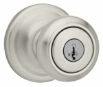 Kwikset 740CN 15 SMT CP K4 Signature Satin Nickel Cameron Entry Knob Lockset With SmartKey