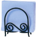 Spectrum Diversified Designs 44310 Napkin Holder, Arch, Black Scroll