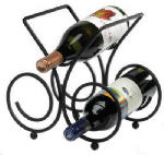 Spectrum Diversified Designs 48010 Bordeaux Wine Rack, Black, 3-Bottle
