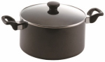 T-Fal/Wearever 47007 Get-A-Grip Saucepan,, With Glass Lid, 6-Qts.