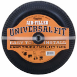 Arnold 20210 Universal Hand Truck Tire, Air Filled, 4.10/3.50 - 4""