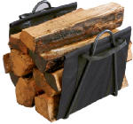Panacea Products 15216 Fireplace Black Log Tote