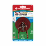 Fluidmaster 502P21 Adjust-A-Flush Toilet Flapper, Red
