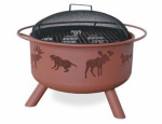 Landmann Mco Limited 28337 Big Sky Wildlife Design Firepit, 30-In.