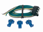 Hopkins Mfg 48125 Trailer End Connector, 4-Wire Flat, 48-In.