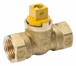 B&K 113-523 Pipe Fitting, Gas Ball Valve, Forged Brass, 1/2-In.