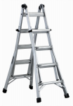 Louisville Ladder L-2098-17 17-Ft. Multi-Purpose Ladder, Aluminum, Type IA, 300-Lb. Duty Rating