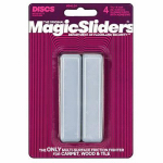 Magic Sliders L P 04124 Surface Protectors, Furniture Sliding Discs, Adhesive, 15/16 x 4-In. Rectangle, 4-Pk.